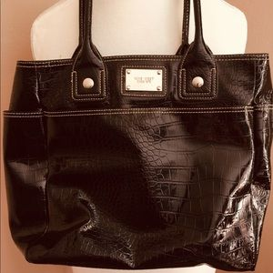 EUC - Beautiful Big Black Nine West Shoulder Bag